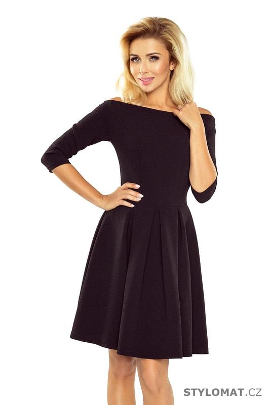 Šaty s holými rameny v černé barvě - Numoco - Krátké společenské šaty 62721b0398c
