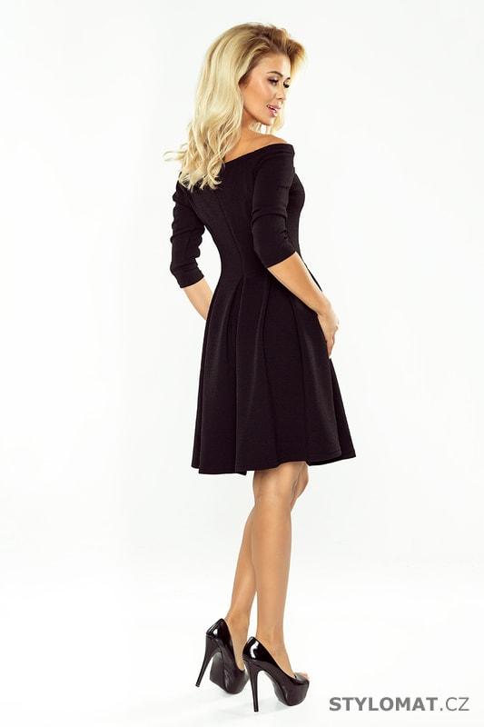 78c23342270 Šaty s holými rameny v černé barvě - Numoco - Krátké společenské šaty