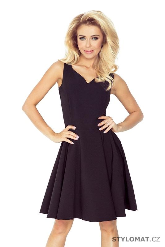Šaty s kolovou sukní černé - Numoco - Krátké společenské šaty ab3836d8540