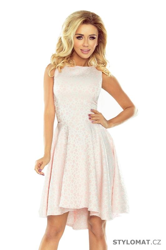 Unikátní asymetrické šaty pastelově růžové - Numoco - Krátké společenské  šaty 862d7259a1