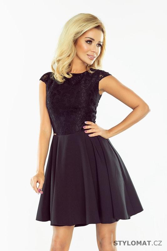 Krajkové šaty s širokou sukní v černé barvě. Zvětšit. - 4%. Previous  Next f9c132e204