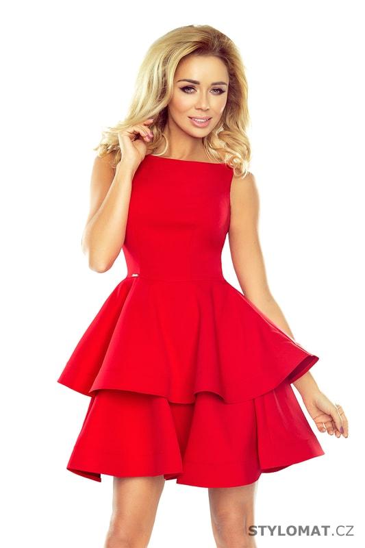 Šaty s širokou sukní červené - Numoco - Party a koktejlové šaty f4d6109401