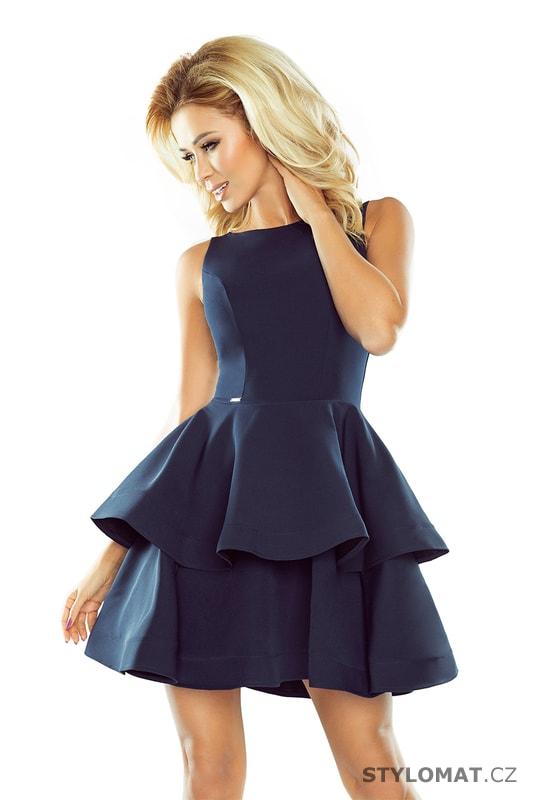 fe30508253d Šaty s širokou nadýchanou sukní tmavě modré - Numoco - Krátké společenské  šaty