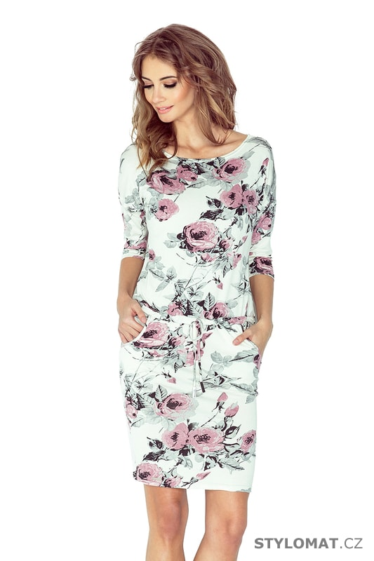 d7cc7947431 Sportovní šaty s potiskem květin - Numoco - Jarní šaty