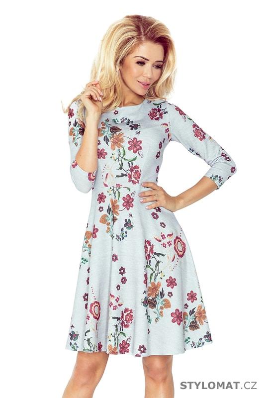 Dámské šaty s rozšířenou kolovou sukní - Numoco - Jarní šaty ad1e446233b
