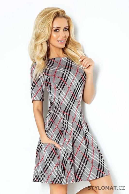 Dámské módní káro šaty - Numoco - Jarní šaty 3383165027