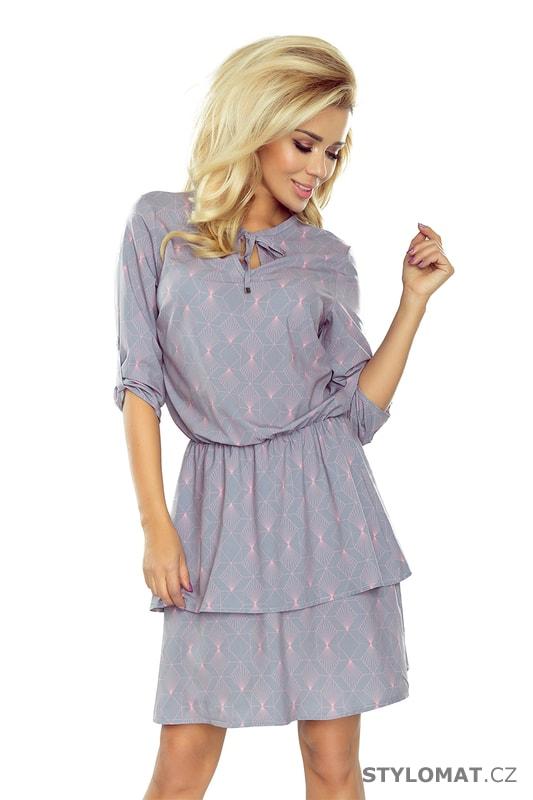 df46f4a655c Šaty s dvojitou sukní a 3 4 rukávem - Numoco - Krátké letní šaty