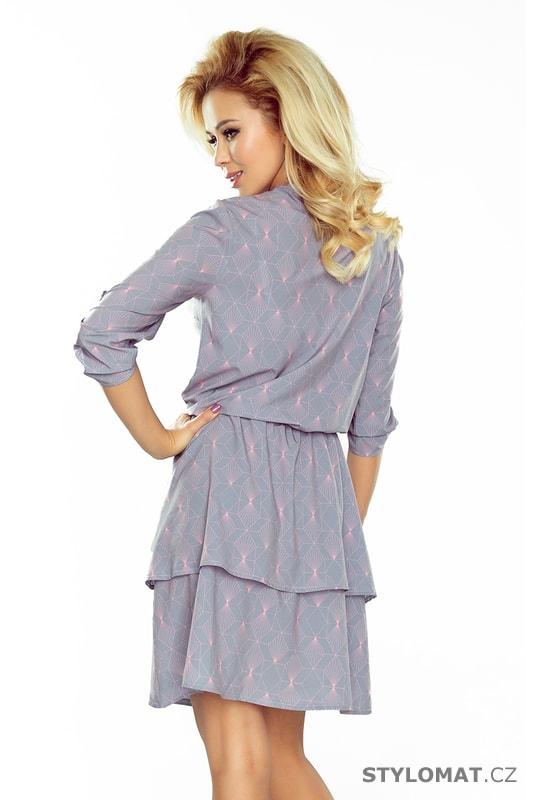b4c8cf0bb05 Šaty s dvojitou sukní a 3 4 rukávem - Numoco - Krátké letní šaty