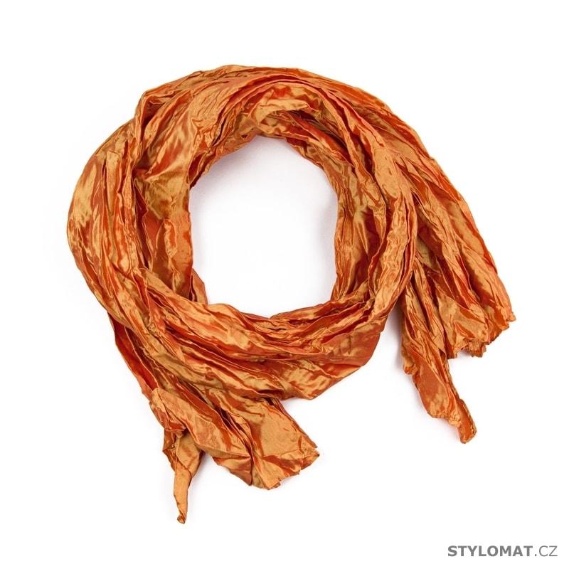 3622fbf9676 Šátek Taft oranžový - Art of Polo - Dámské šály a šátky