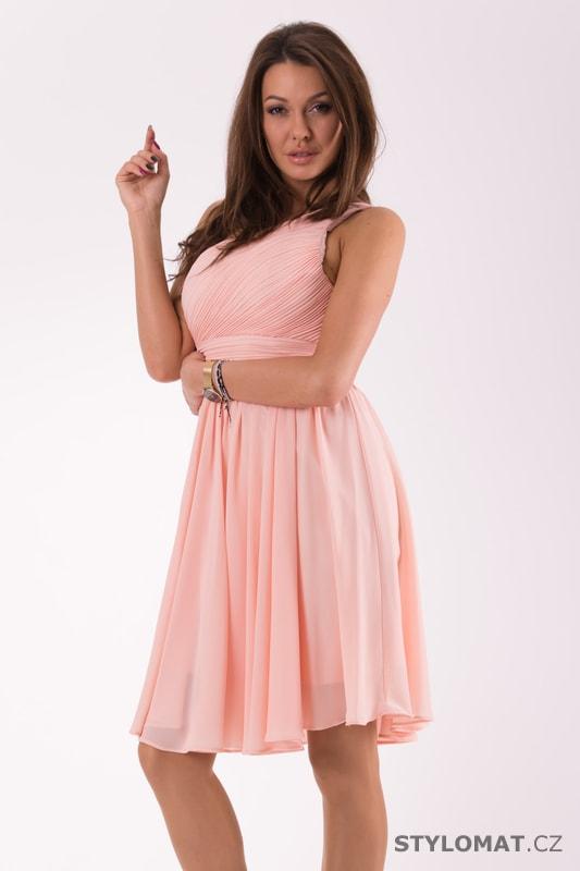 Krátké společenské šaty na jedno rameno růžové. Zvětšit. - 4%. Previous   Next a9ea0d065bb