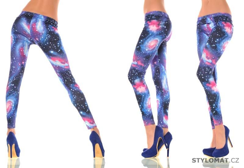 59740590178 Moderní modré GALAXY legíny - Fashion - Legíny