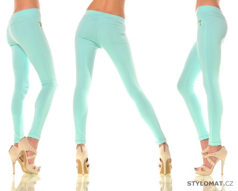 Trendy tyrkysové legíny s kapsami - Fashion - Legíny 6830c30dcc