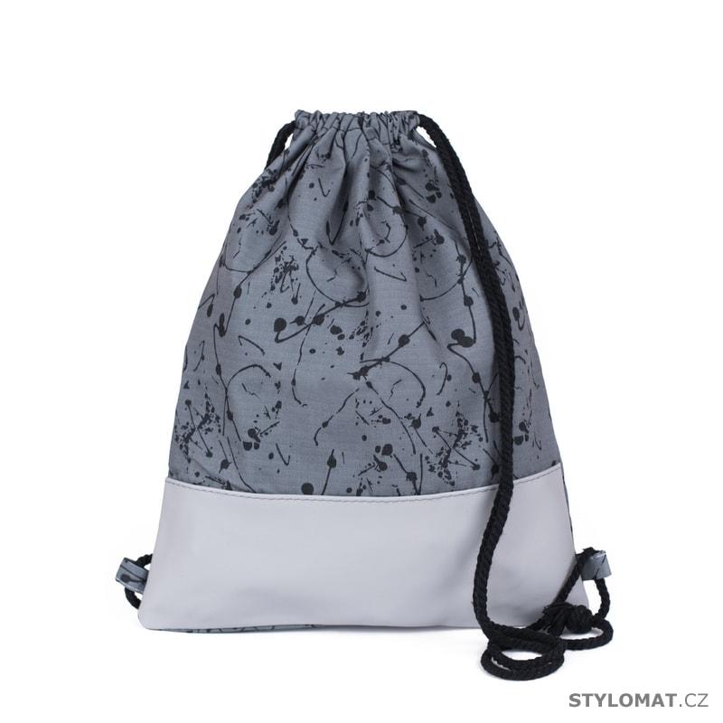97939c4ef6d Vak na záda vzorovaný šedý - Art of Polo - Módní batohy