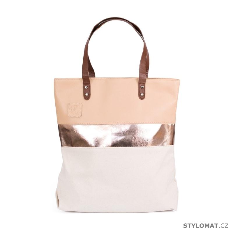 Prostorná kabelka béžová - Art of Polo - Dámské kabelky a tašky 3f8fa1c24dc