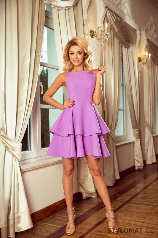 Šaty s širokou sukní světle fialové - Numoco - Krátké společenské šaty f61c205921