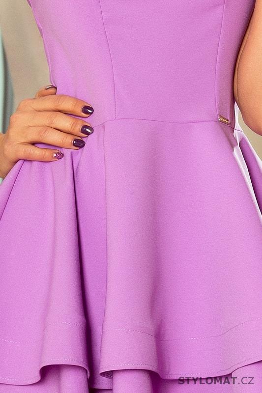 Šaty s širokou sukní světle fialové - Numoco - Krátké společenské šaty 0eca75db68