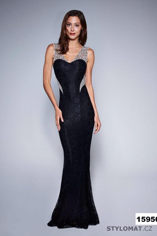 Jednoduché večerní šaty černé - Soky Soka - Dlouhé společenské šaty d41916010a