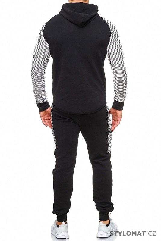 39f0378bd8e Pánská tepláková souprava černobílá - Redox - Kalhoty a džíny