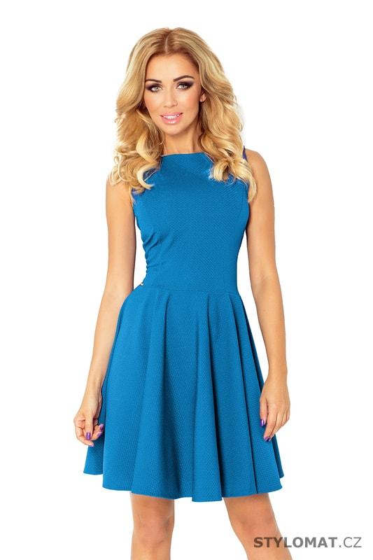 05c5ffa7379 Kolové šaty s lodičkovým výstřihem modré - Numoco - Party a koktejlové šaty