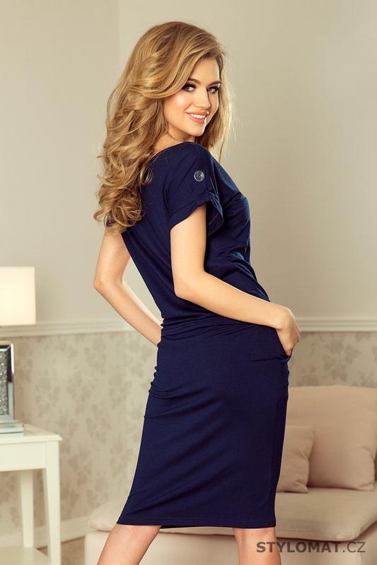 Sportovní šaty s krátkým rukávem a kapsami tmavě modré. Zvětšit. - 6%.  Previous  Next ddc38ec48a