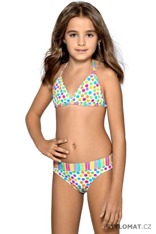 Dívčí plavky Viky puntíkované - Lorin - Dětské plavky d7a913387e
