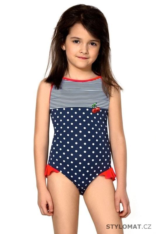 Dívčí jednodílné plavky Sárinka modré - Lorin - Dětské plavky c43cbb1c21