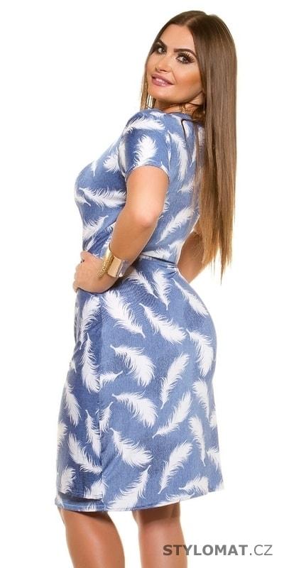 Zavinovací šaty pro plnoštíhlé - Koucla - Krátké letní šaty a7db0d7a69