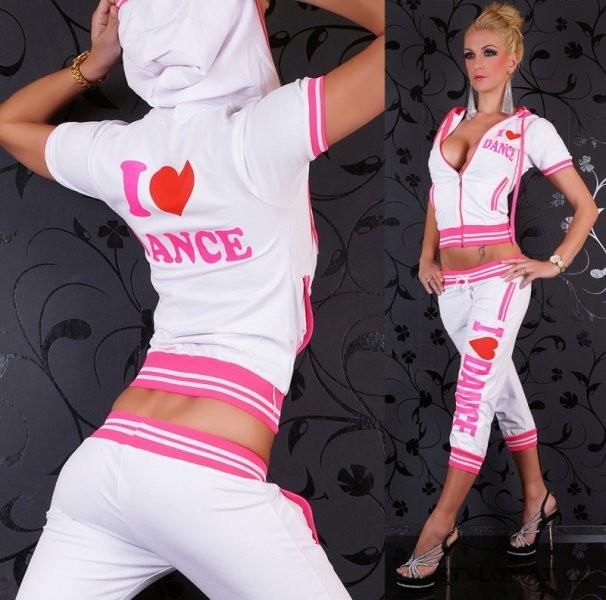 Dámská bílá sportovní capri souprava I LOVE DANCE - Redial - Sportovní  soupravy ad473002c7