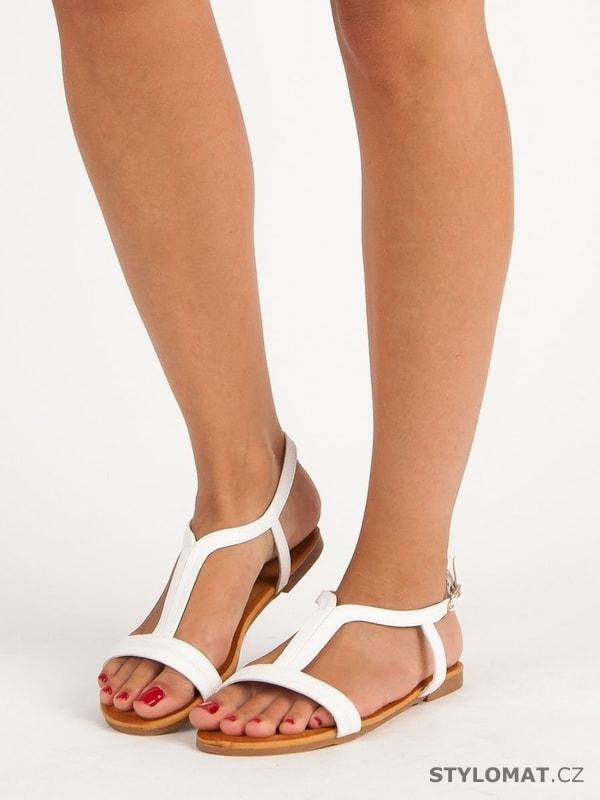 Pohodlné dámské sandály bílé - Bella Star - Sandále 6e009b2c93