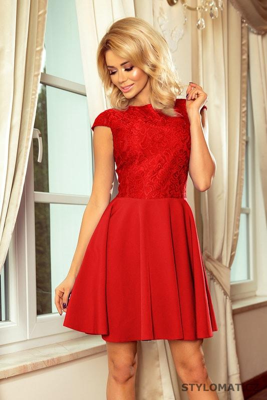 135dc1f8e1e Krajkové šaty červené - Numoco - Šaty do tanečních