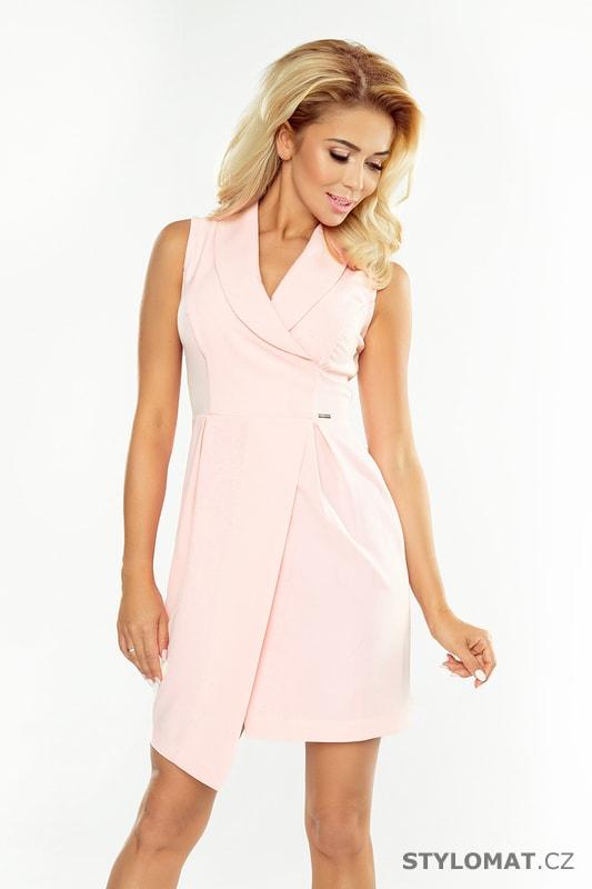 Šaty se širokým límcem pastelové - Numoco - Krátké letní šaty cd50ddb8bd