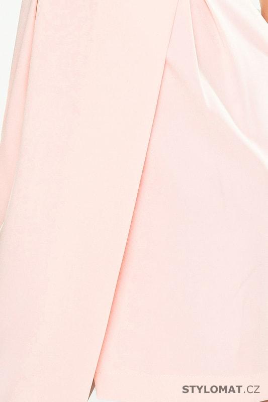 Šaty se širokým límcem pastelové - Numoco - Krátké letní šaty cb0d73ed0a