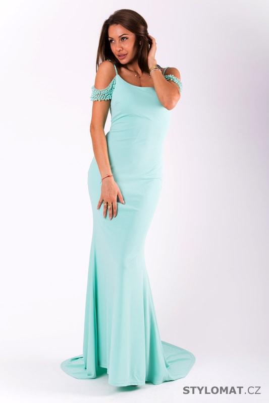 9b62701a7bb Dlouhé přiléhavé šaty mint - Eva Lola - Dlouhé společenské šaty