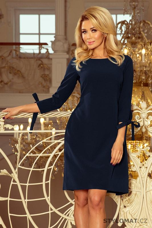 34a0e9be3d8 Decentní dámské šaty tmavě modré - Numoco - Jarní šaty