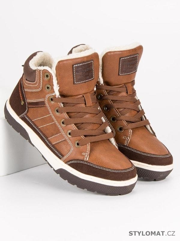 f4bb49eac76 Zateplené tenisky béžové - Arrigo Bello - Sportovní pánská obuv