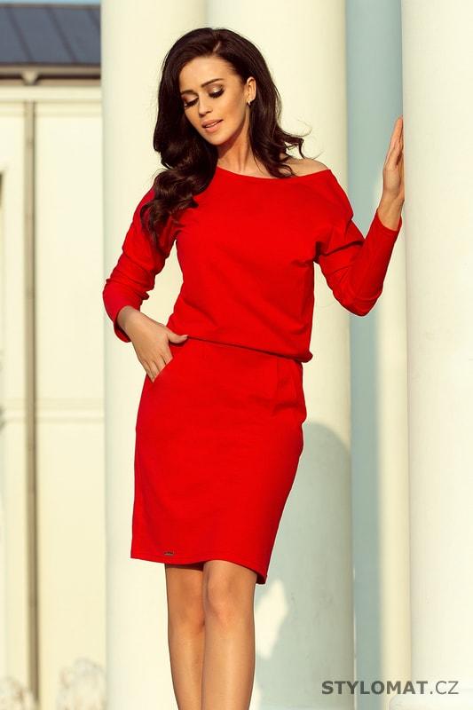 Elegantní šaty s výstřihem na zádech červené - Numoco - Jarní šaty e9c7554765