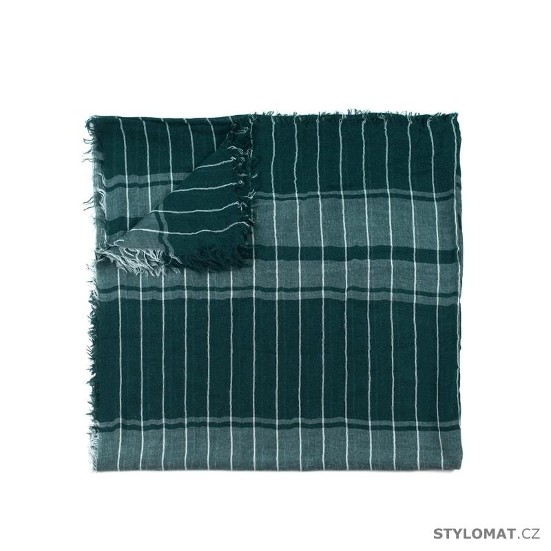 Pruhovaný šál zelený - Art of Polo - Pánské šály 7c6bfa2010