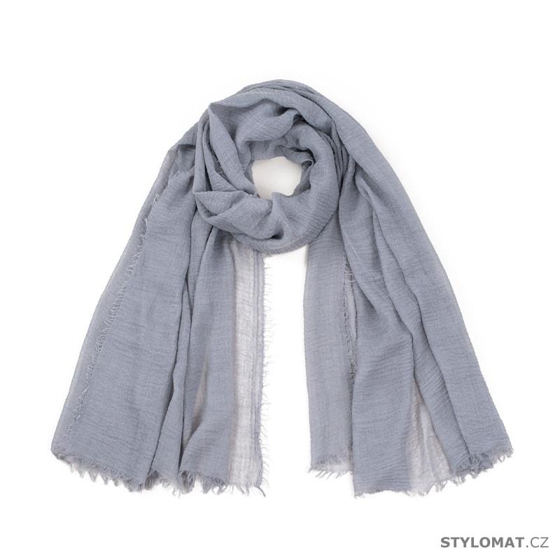 Jednoduchý šátek šedý - Art of Polo - Dámské šály a šátky 8c88927593