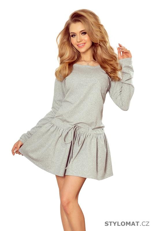 Sportovní šaty s dlouhými rukávy a kapsami šedé. Zvětšit. Previous  Next 798fa055c1