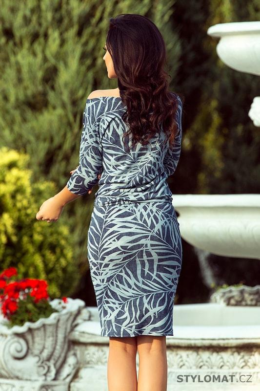 Pohodlné podzimní šaty modré s listy. Zvětšit. - 6%. Previous  Next aa8c5057b2