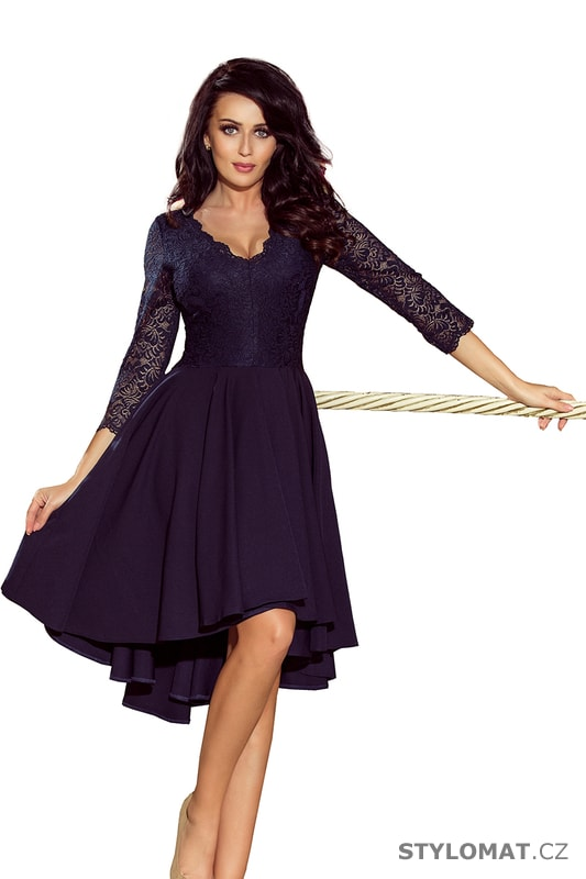 9b4ff34bcf9 Šaty s asymetrickou sukní a krajkovým topem modré. Zvětšit. - 7%. Previous   Next