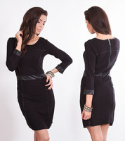 Dámské černé šaty s dlouhými rukávy
