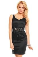 Elegantní černé koktejlové šaty