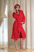 Župan Diana červený dlouhý s kapucí
