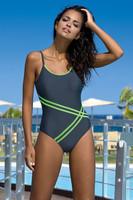 Dámské jednodílné plavky Stripes