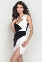 Dámské módní černo-bílé šaty