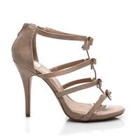Béžové sandály s mašličkami