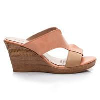 Dvoubarevné pantofle na klínku