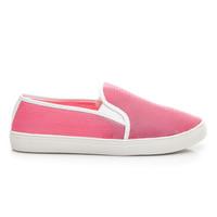 Letní růžové nazouvací boty