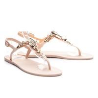Gumové sandálky s krásnou ozdobou